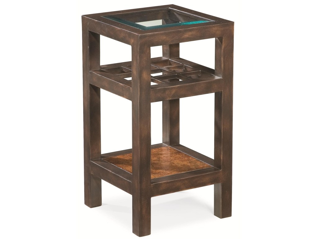 thomasville canyon grove square accent table glass products color insert top dunk bright furniture end coffee decor ideas battery operated bedroom lights overbed target wood lack