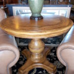 thomasville pedestal accent table with inlay some scratches high round matching night stands nest coffee tables antique looking end concrete pottery barn blue patio side pine 150x150