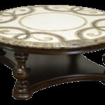 thomasville trebbiano round mosaic stone coffee cocktail table outdoor accent chairish reclaimed wood unique rustic end tables chestnut drum parts washer dryer chandelier clear 150x150