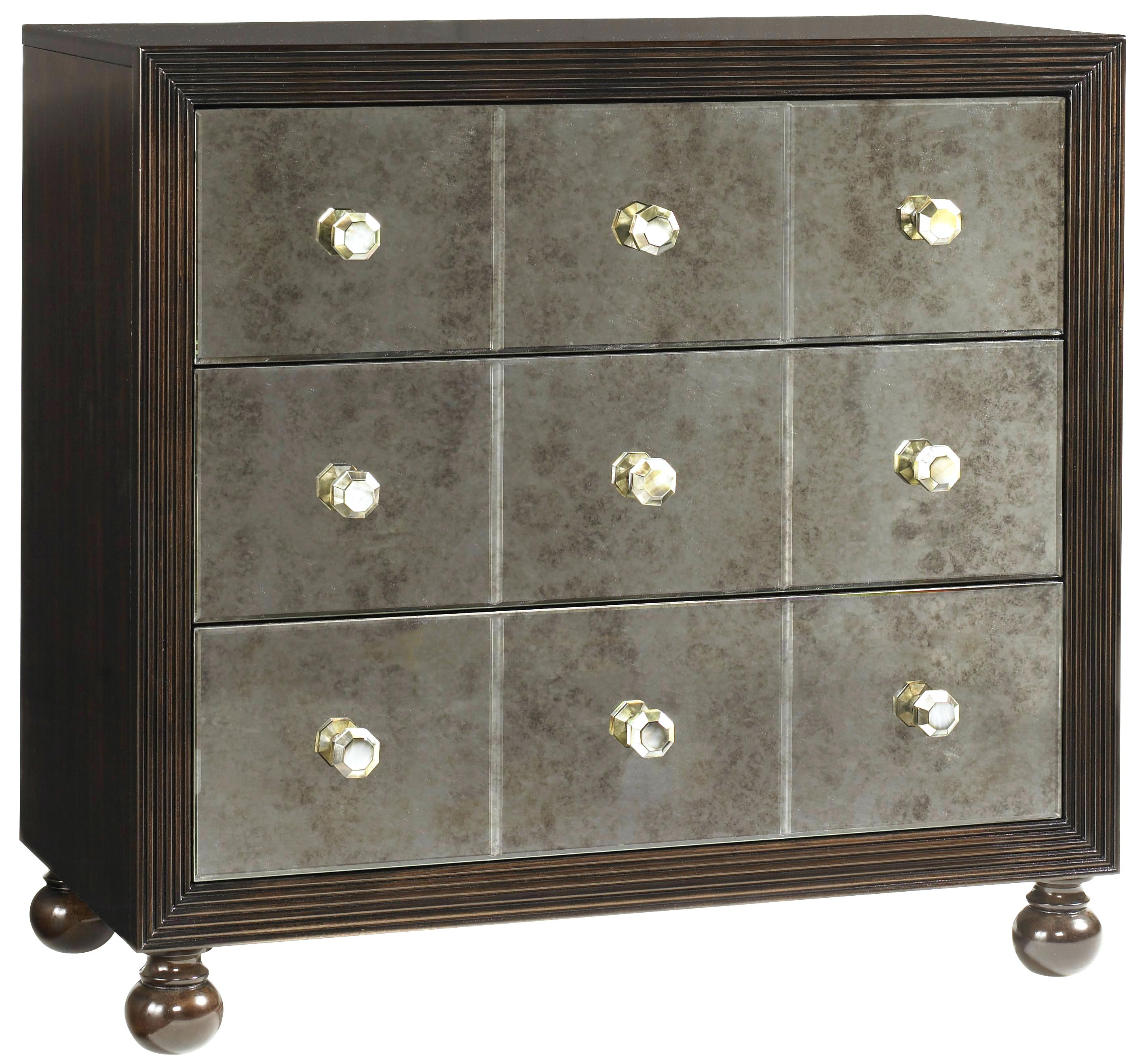 three drawer mirrored nightstand treasure trove accents silver and home royal starlight with shell hardware antique accent end table ikea wooden storage bench small pine college