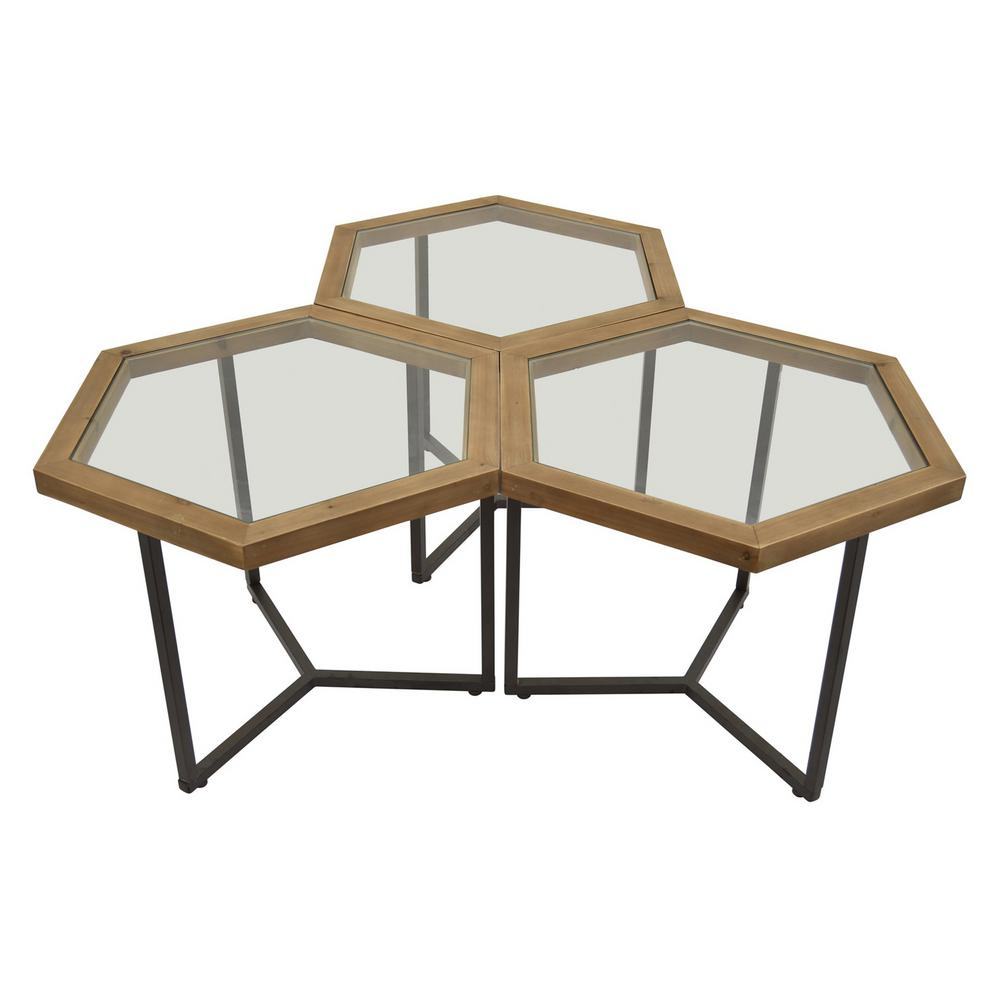 three hands metal accent table finished brown set end tables small tall plastic garden and chairs glass sofa side inch square tablecloth triangle nesting acrylic furniture living