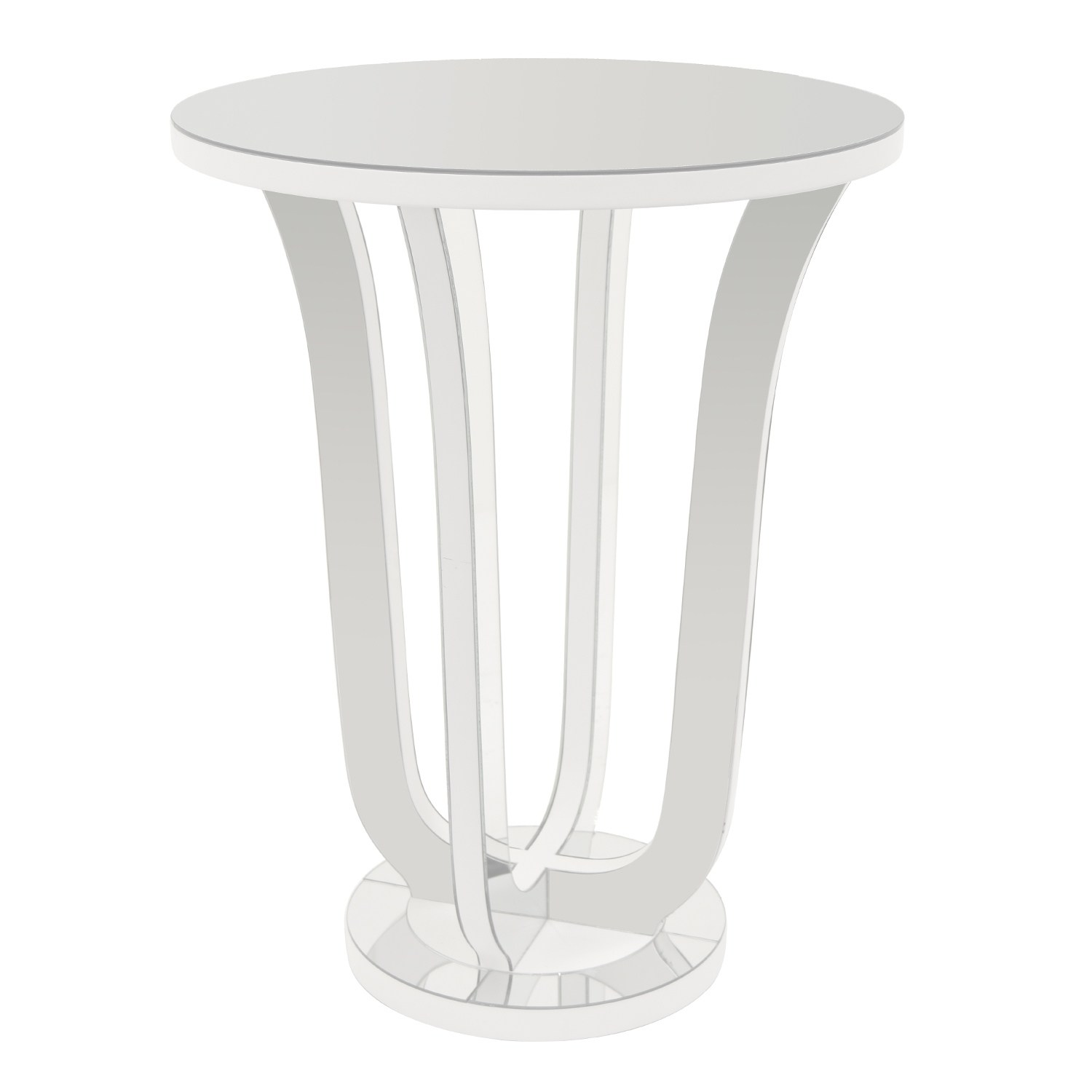 three hands mirrored accent table white free shipping today lift top lucite coffee with shelf oval metal ethan allen sofa drum furniture patio swing cover beautiful tables black