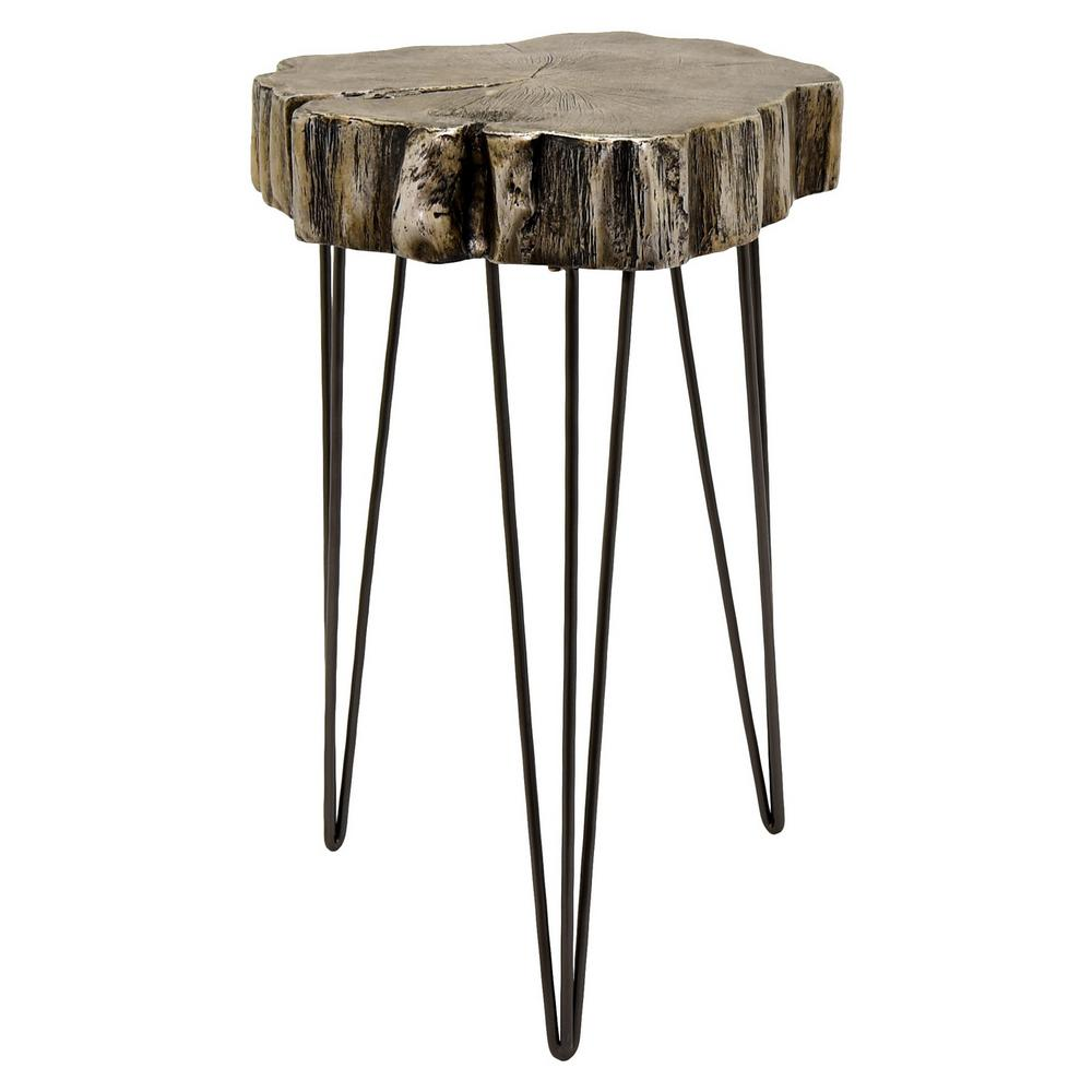 three hands silver accent table the home end tables industrial side vintage stand alone umbrella black wood round lamp wyatt furniture interior door threshold bedroom designer