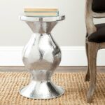 three hands silver metal accent table the yellow safavieh manelin white wash end home pedestal drop leaf black cube zinc striped patio umbrellas modern round dining wood furniture 150x150