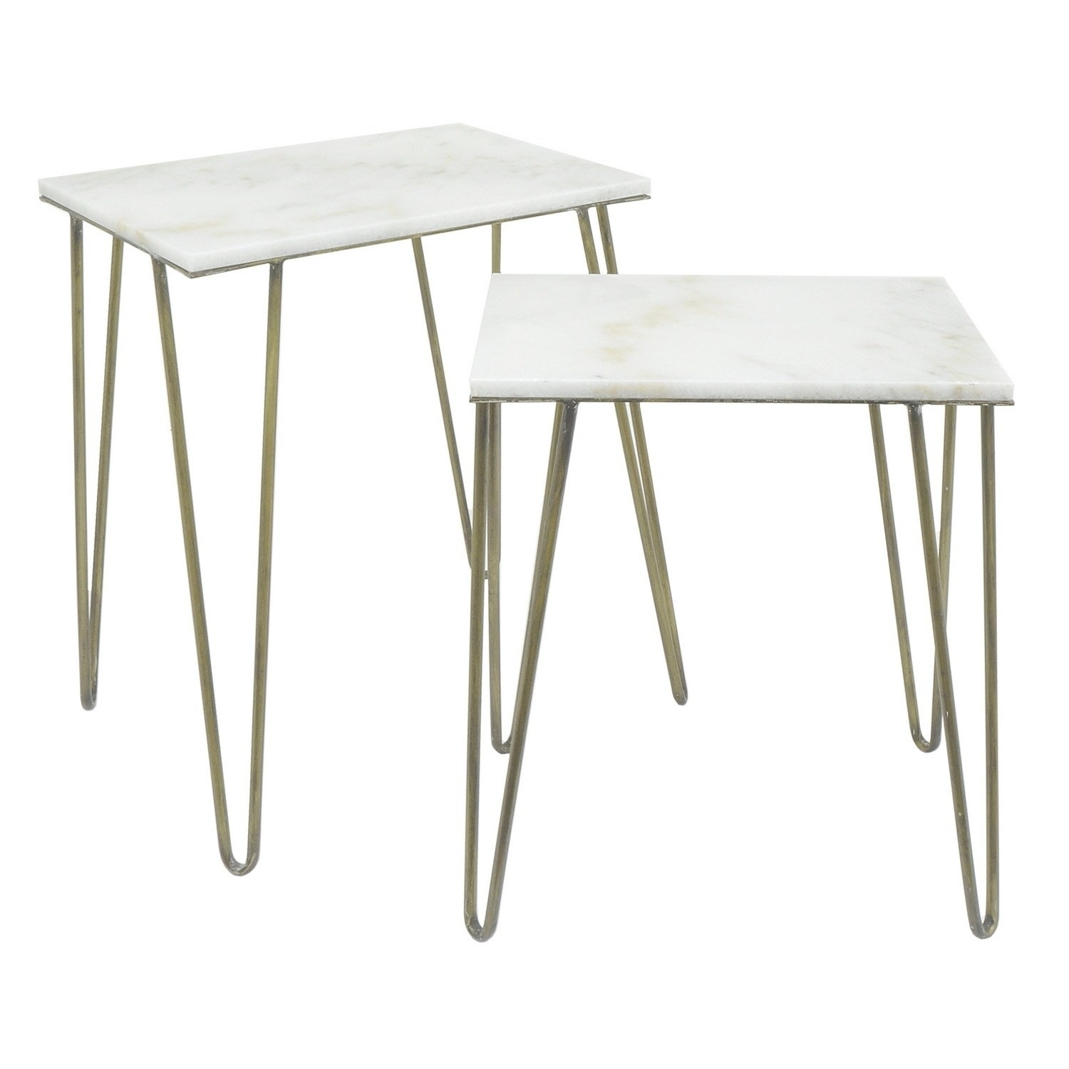three hands white metal marble top accent table set free shipping today pier one side french console ikea kids bedroom storage decorative accessories for dining room skinny couch
