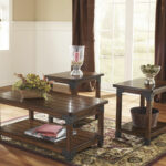 three piece nailhead trim rustic farm house accent table set big with nailheads brown west elm chairs stable target cooler coffee wicker storage buffet side pier one credit card 150x150