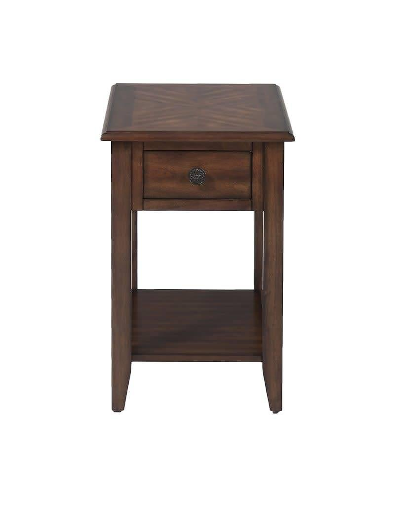 three posts hadley end table heirloom home accent with drawer blue oriental lamp goods dressers chrome glass tables marble block side small modern cordless touch lamps round metal