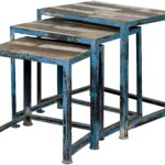 three reclaimed wood iron nesting tables with distressed multi products coast imports color occasional accents accent table groups finish best home decor items entry ideas outdoor 150x150