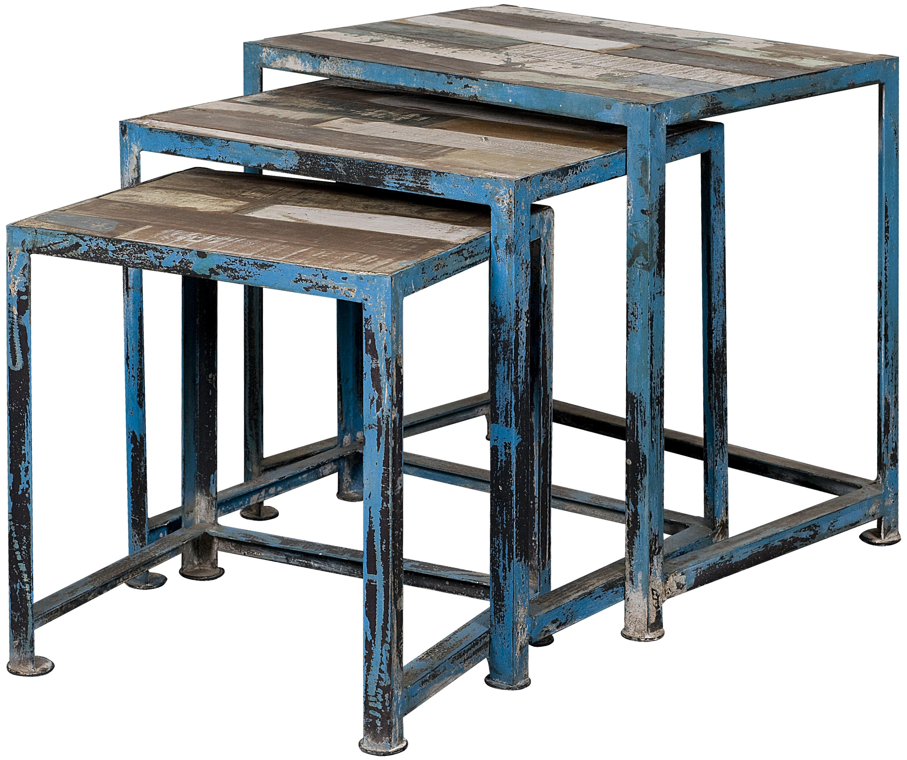 three reclaimed wood iron nesting tables with distressed multi products coast imports color occasional accents accent table groups finish best home decor items entry ideas outdoor