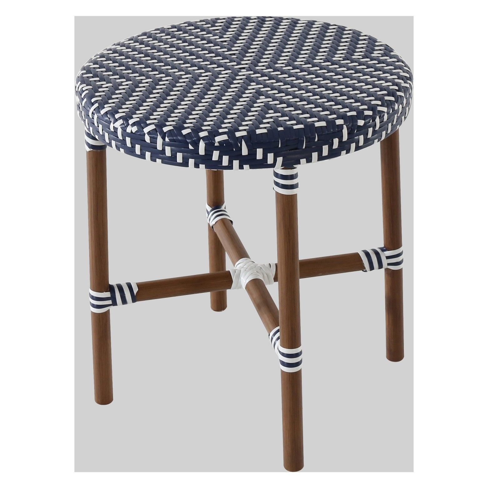 threshold french wicker patio accent table navy white outdoor woven metal bathroom heater woodbury small semi circle home plans ethan allen used furniture blue painted coffee