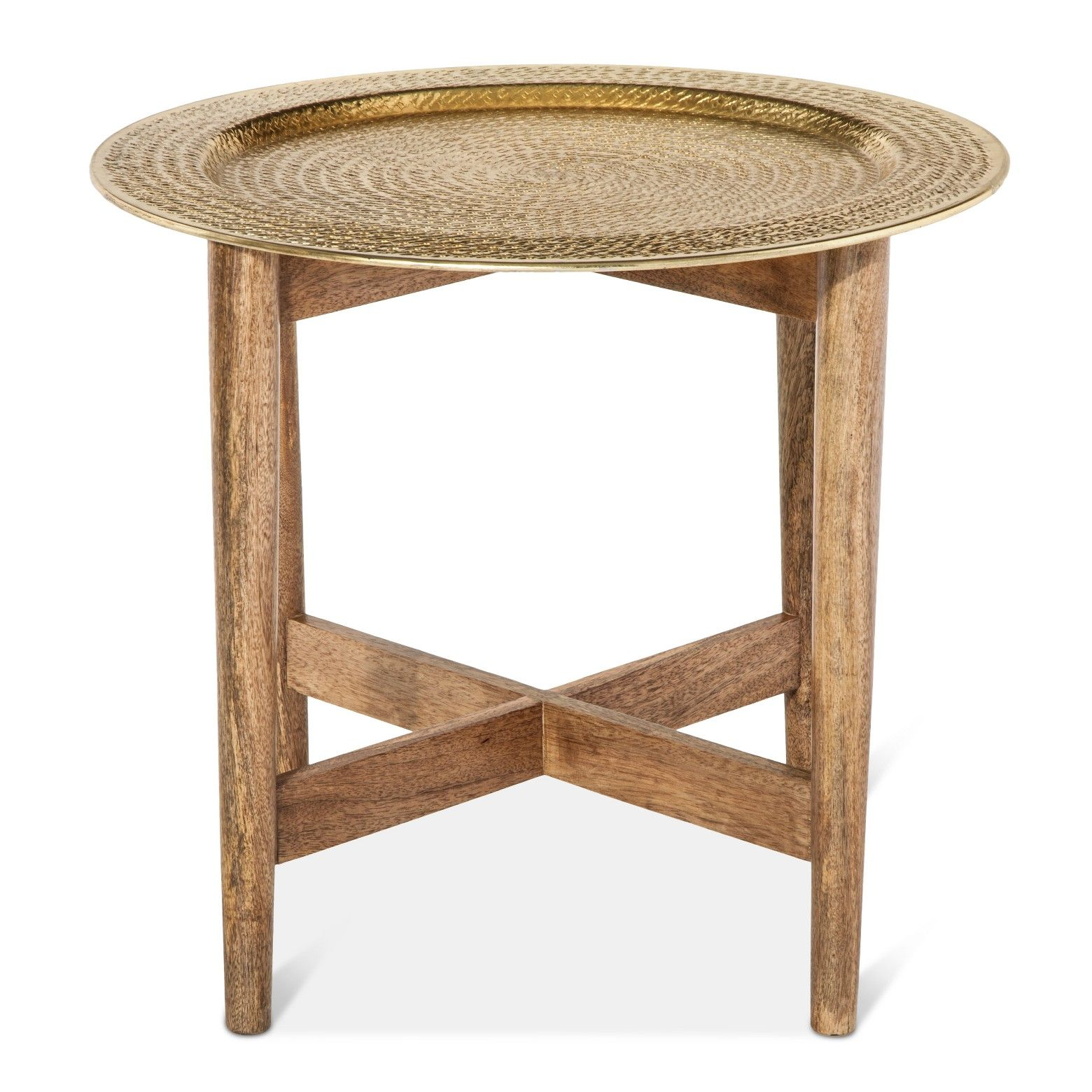 threshold gold metal top accent table front doors trays and tan mix your materials style with the this tray universal furniture broadmoore pottery barn trestle acrylic nesting