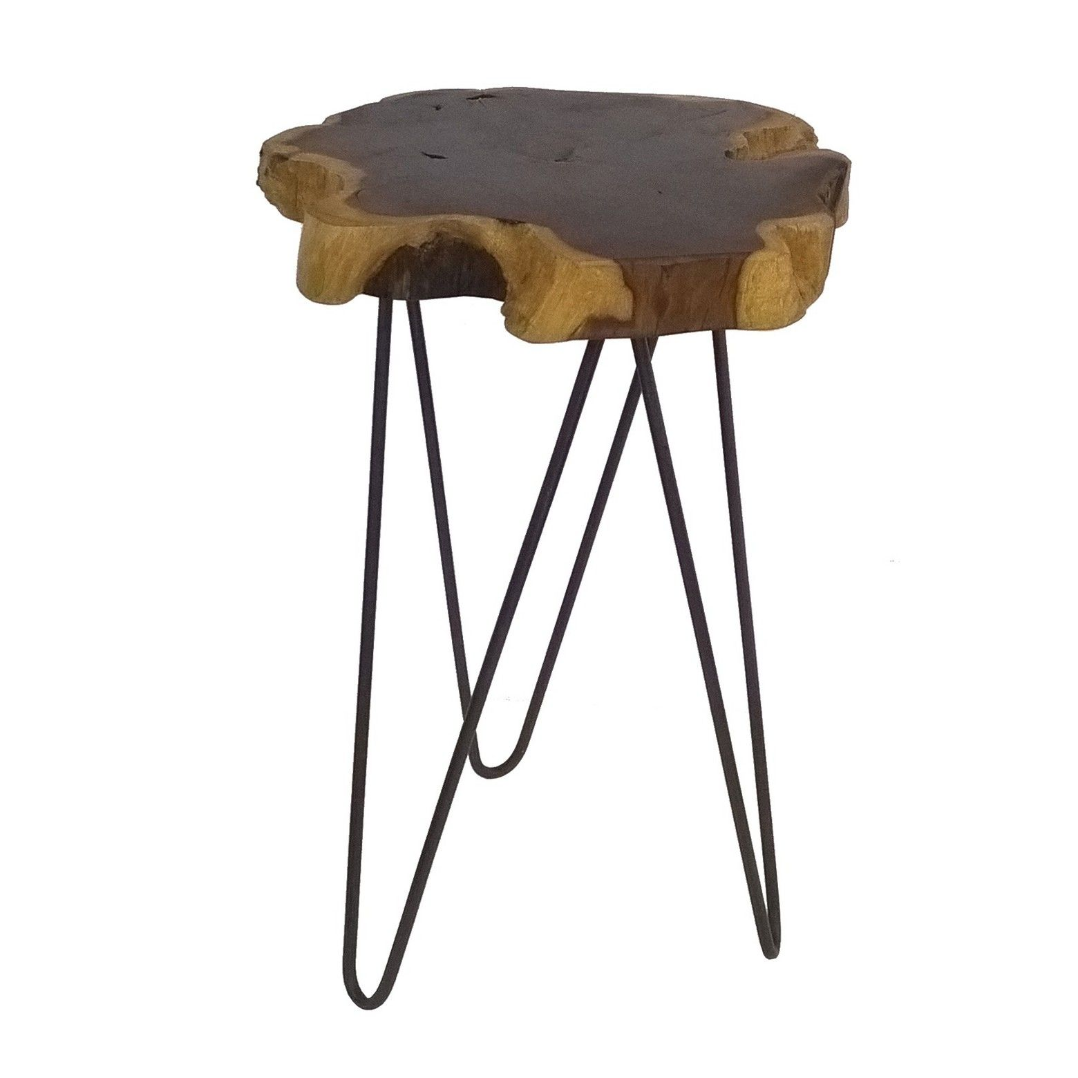 threshold live edge accent table brown hairpin legs tabletop and berwyn end metal wood rustic convertible furniture round glass top small maple gaming dining unfinished coffee