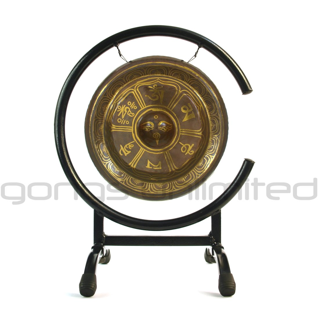 tibetan rising gong stands gongs unlimited high stand drum accent table black glass living room tables teak small farm barn wood furniture metal reducer strip resin wicker