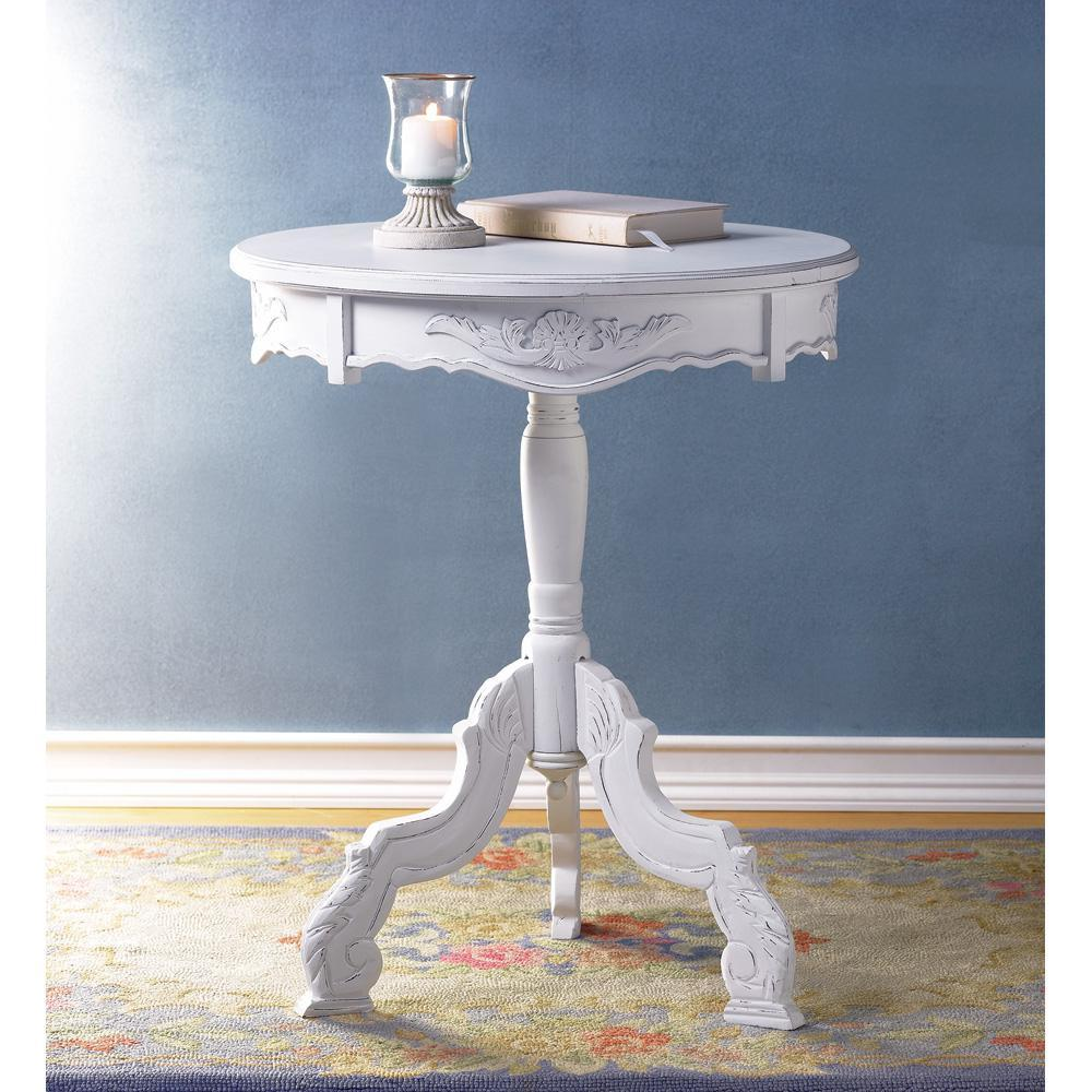 tic rococo accent table victorian style exquisitely dale tiffany butterfly lamp square outdoor umbrella party decorations porch furniture covers all modern side white and walnut