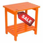 tier patio table small side square yellow outdoor accent orange wooden water weather rust resistant stylish indoor furniture ebook diy umbrella stand lounge light pink chair metal 150x150