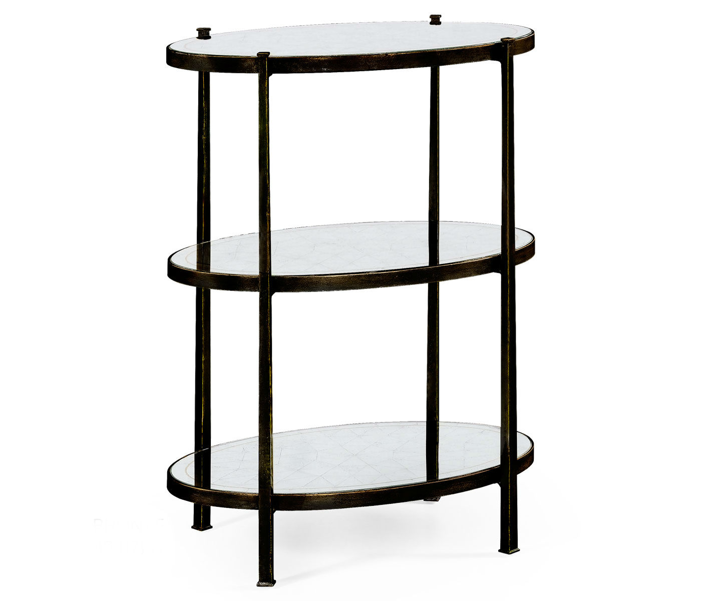 tier table tables mirrored side tiered metal accent elegant tall antiqued bronze partner end console coffee available hospitality residential ashley furniture wesling large round