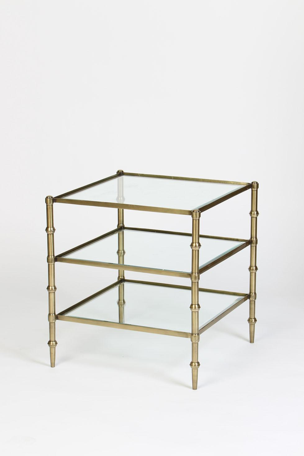 tiered square glass accent table antique brass finish boulevard urban living craft desk west elm wood side lack coffee and set mid century dining chairs decor ideas metal legs