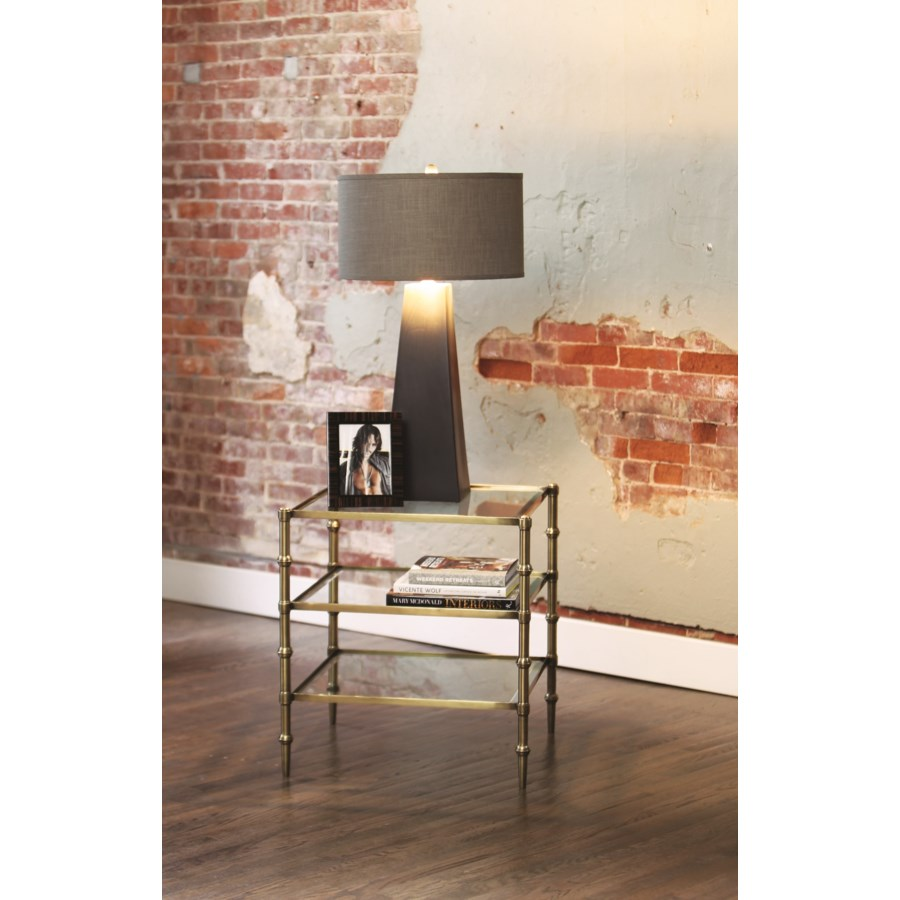 tiered square glass accent table antique brass finish lifestyle walnut corner dining chair design target nate berkus rug cement room coffee tables side inches high round drawer