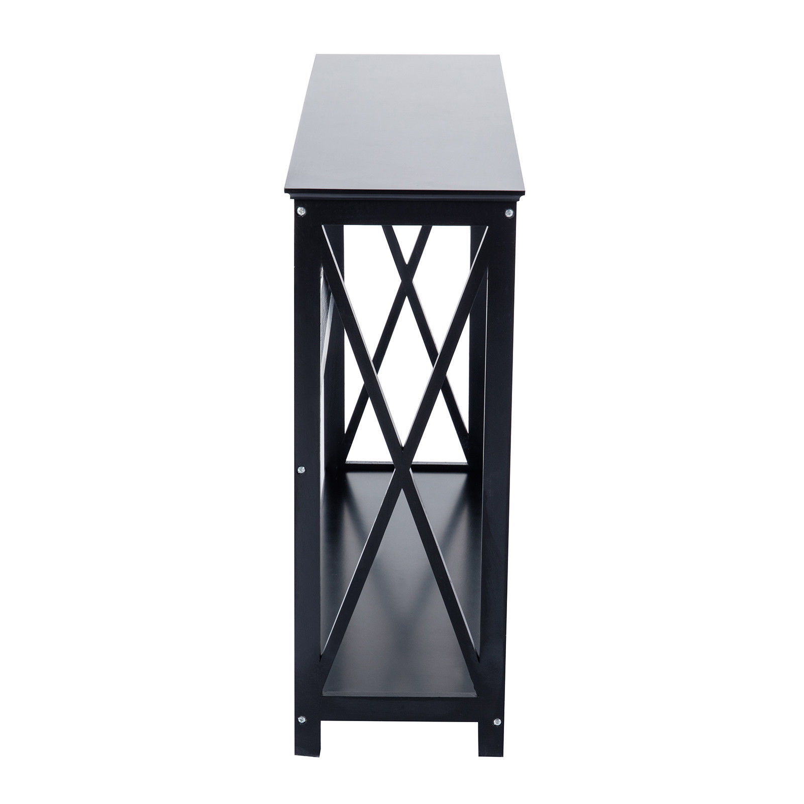 tiers black console table accent tables with storage shelf hallway drawer product description grill brush furniture winnipeg cherry lamp round dale tiffany crystal lamps glass