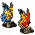 tiffany butterfly stained glass touch table lamp with novelty accent river goods blue red set small gray side coffee calgary teak dining very nightstand decorative wine rack 150x150