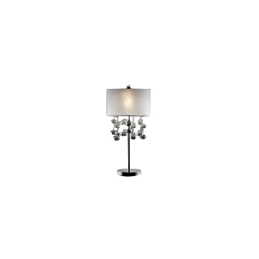 tiffany crystal accent table lamp with fabric lamps shade walnut bedside brass decorative chairs tall metal inexpensive end tables for living room cherry queen anne antique side