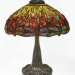 tiffany studios important dragonfly table lamp from the miniature accent lamps collection andrew carnegie shade impressed telesco base granite top coffee clearance sectionals 150x150