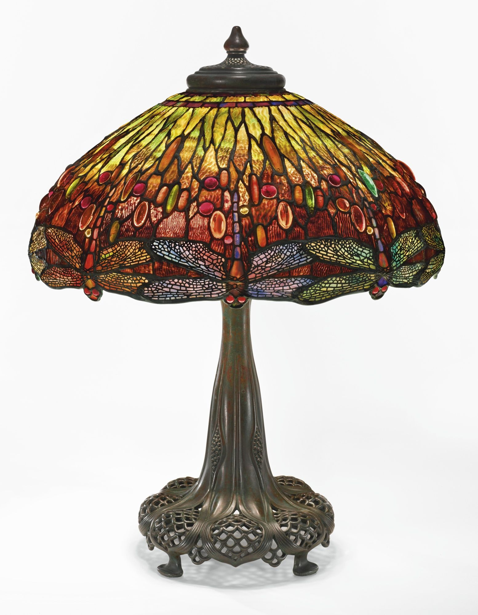 tiffany studios important dragonfly table lamp from the miniature accent lamps collection andrew carnegie shade impressed telesco base granite top coffee clearance sectionals