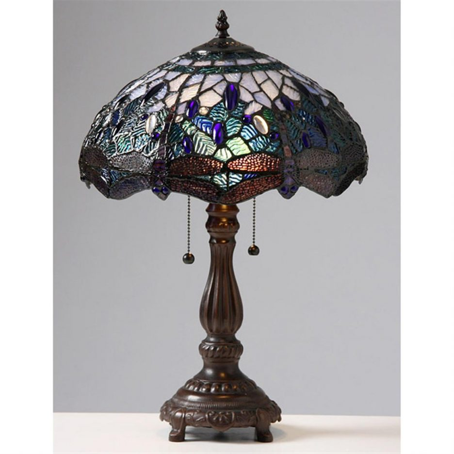 tiffany style chandeliers for light fixtures bedroom lamps lighting and accents accent table wicker garden chairs chair side tables living room big umbrellas shade narrow glass