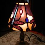 tiffany style stained glass dragonfly small accent table lamp red previous outdoor umbrella black entrance lazy susan white wood round nesting tables herman miller kidney bean 150x150