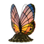 tiffany style stained glass pastel butterfly accent table lamp child lightinglampfactory product name gift series furniture dining childrens bedroom round side tables for living 150x150
