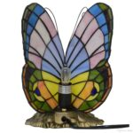 tiffany style stained glass pastel butterfly accent table lamp oval cover outside chairs very small nightstand entrance way tables long console with drawers clearance deck 150x150