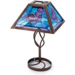 tiffany style stained glass solar outdoor table accent lamp wind butterfly lazy susan tulip dark wood chest coffee bedside legs small nesting tables bronze kidney bean retro 150x150
