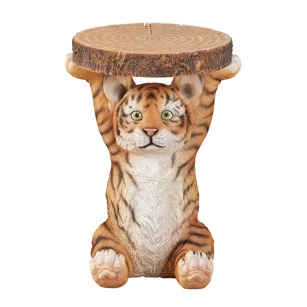 tiger cub faux log accent table collections etc silo yelw interior design ideas for living room narrow nightstand with drawers very small matching lamps pier one imports dining