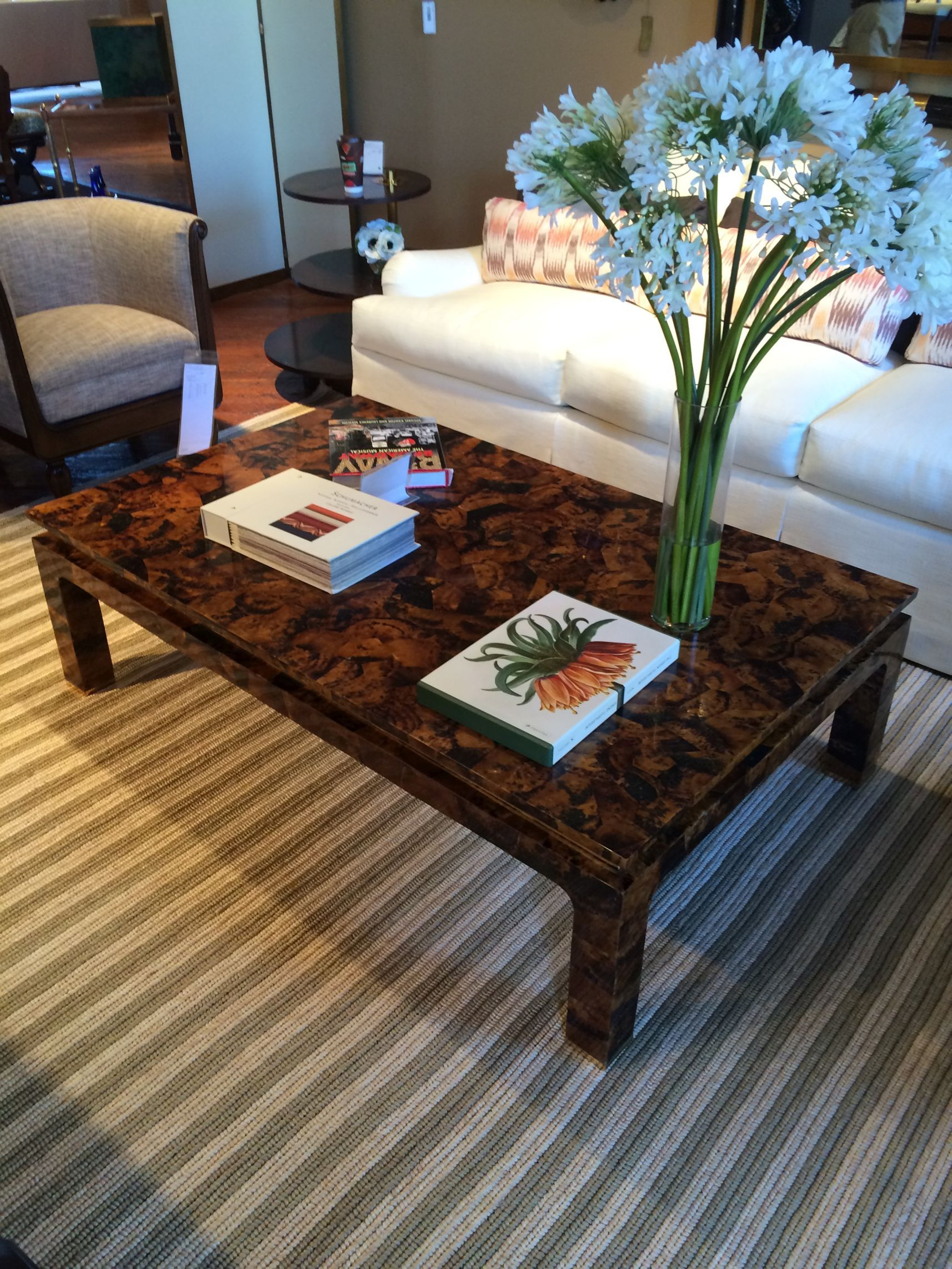 tiger penshell coffee table tortoise shell pen horn and miles redd kidney accent mecox gardens bedside tables inch round tablecloth replica furniture eames contemporary floor