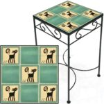 tile accent table black cats jade tall square save metal and small kitchen chairs ikea childrens storage boxes inn ceramic end stool hardwood floor threshold oak tables with 150x150