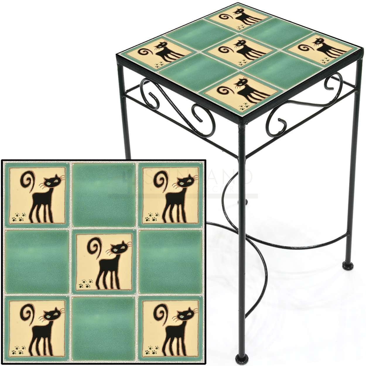 tile accent table black cats jade tall square save metal and small kitchen chairs ikea childrens storage boxes inn ceramic end stool hardwood floor threshold oak tables with