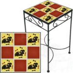 tile accent table dog and bones red metal save square tall mid century dining set side cupboards for living room white sofa with storage cherry wood console narrow behind couch 150x150