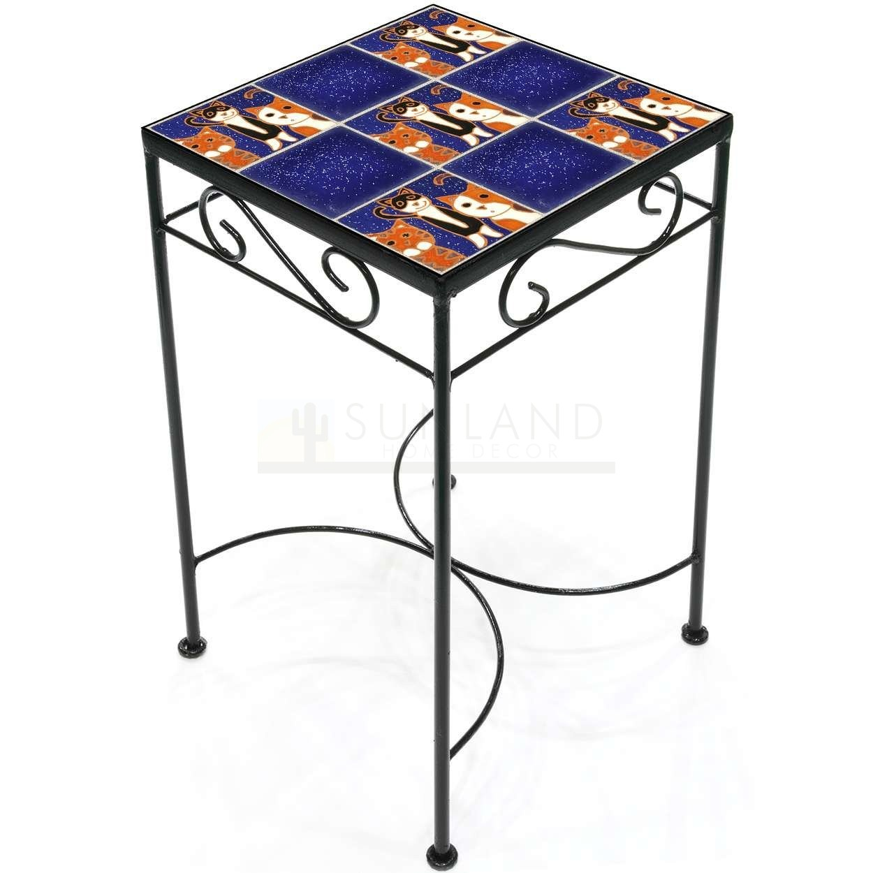 tile accent table kitties night tall square metal and small kitchen chairs narrow drop leaf glass lamps hardwood floor threshold unique wood coffee tables acrylic console ikea