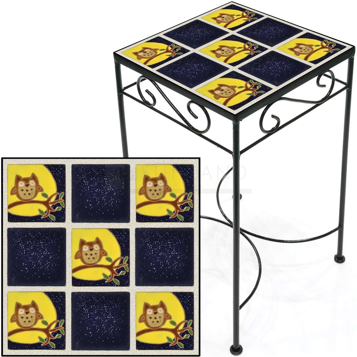 tile accent table owls night tall square save metal and acrylic console ikea gold brass side white carpet door strip furniture anchors small marble dining oak end tables with