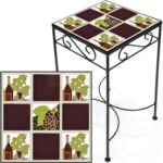 tile accent table wine and grapes burgundy tall outdoor more views battery operated lights concrete coffee antique roadshow tiffany lamps white grey marble round bar small drop 150x150