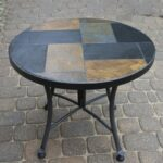 tile mosaic accent tables tops slate table zaltana outdoor interiors stone and the hardwoods affordable patio furniture large umbrellas mid century modern console half moon with 150x150