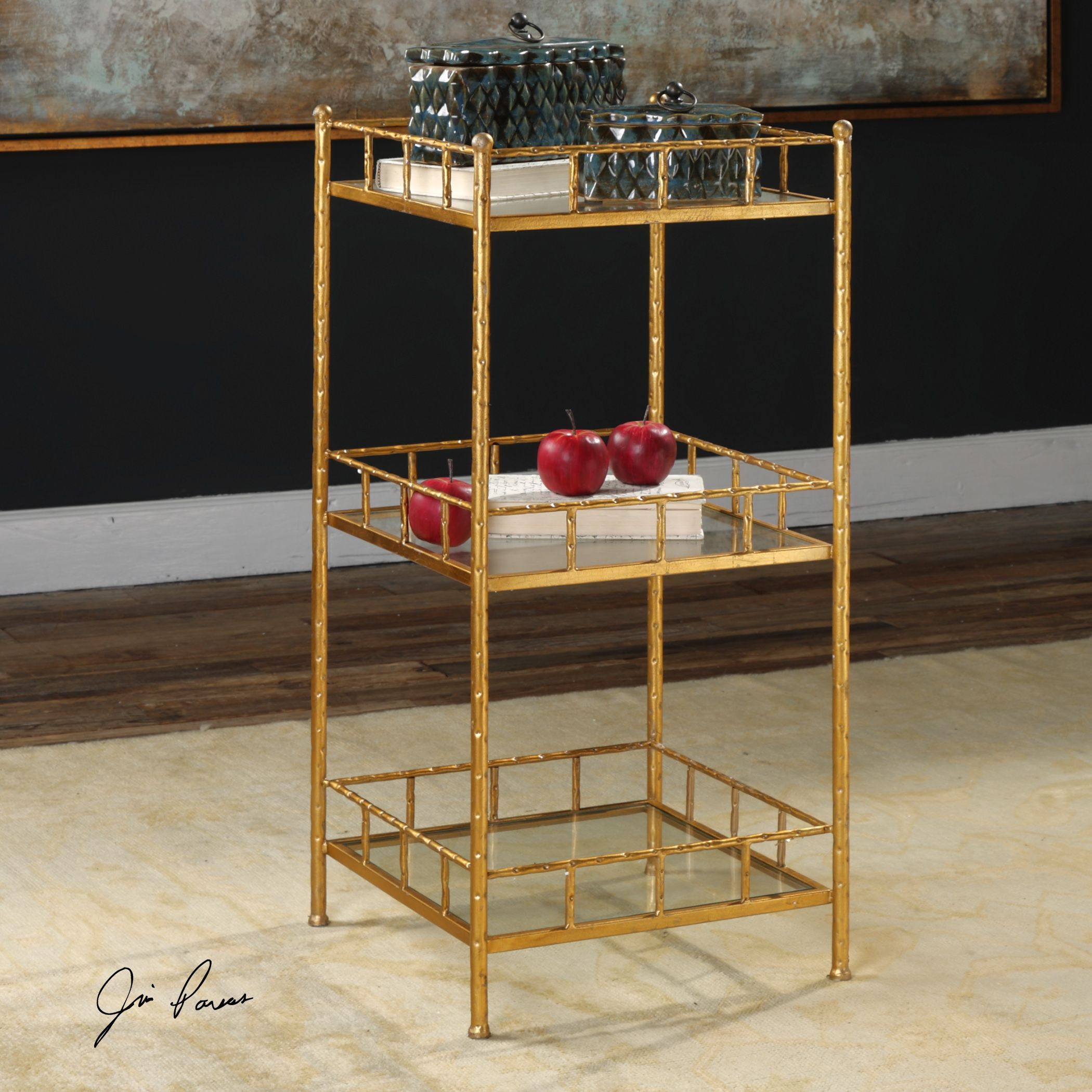 tilly gold leaf square storage accent table uttermost rowico furniture rustic corner garden bar ideas modern lamps black side urban home oak with drawer stacking tables family