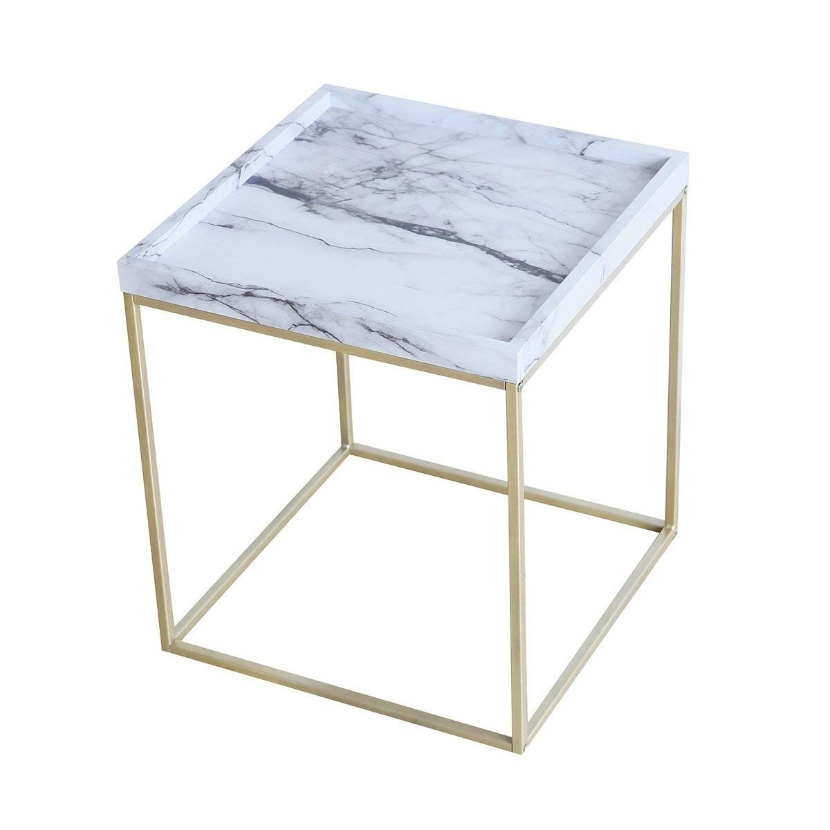 tilly lin modern accent faux marble top end table gold legs small side for living room black metal frame carrara kitchen dining drummer throne chair target with drawer corner