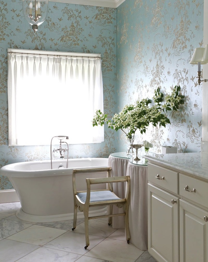 timeless and traditional patricia mclean the glam pad master bathroom kidney shaped dressing table vanity miles redd accent learn more about this home southern lady you don
