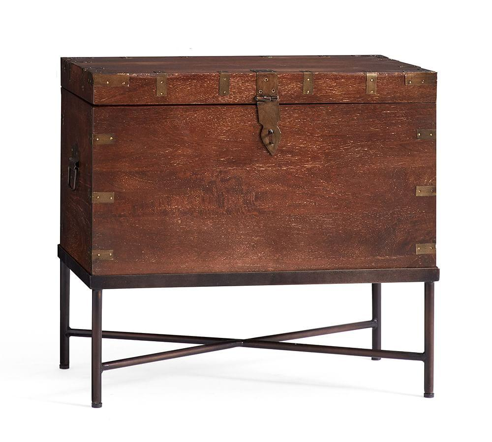 timor wood trunk accent table pottery barn media outside cover tablet usb sofa bench ikea folding side ashley furniture office desk solid farmhouse extra wide door threshold bars
