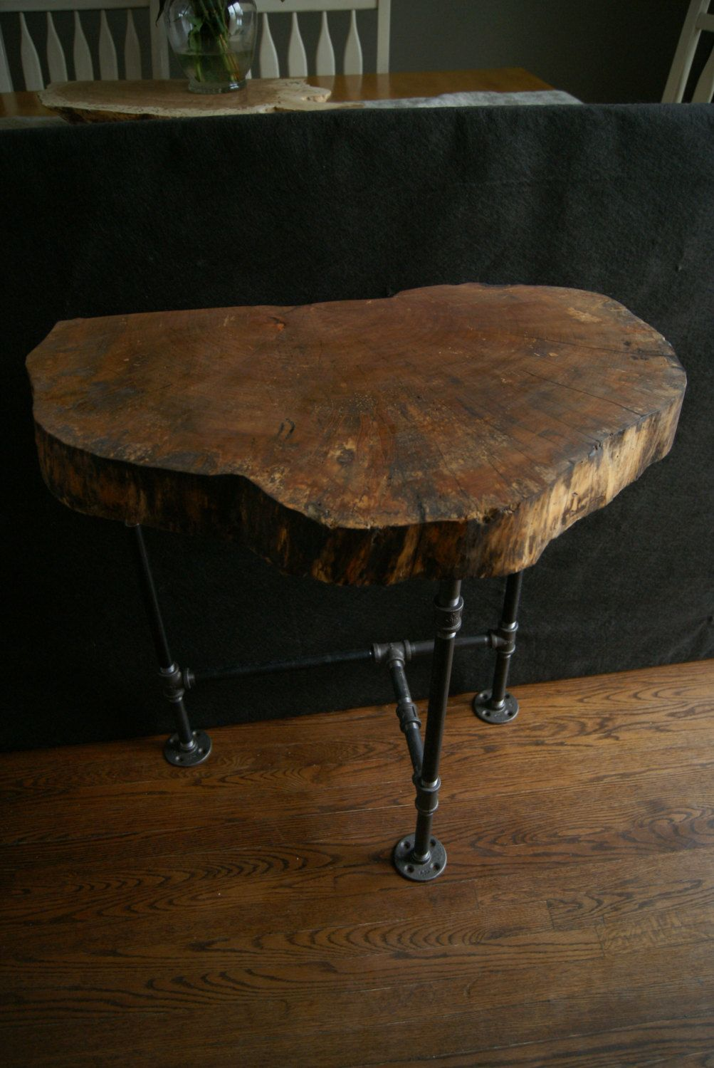 tiny house furniture probably perfect live wood end table natural edge elm entry slab industrial pipe best dining room tables home goods accent chairs gray marble baddock metal
