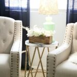 tips how style end table sitting area tier accent target found this cute and also lamp floral piece love the pop color brought space flowers all glass coffee white metal real 150x150