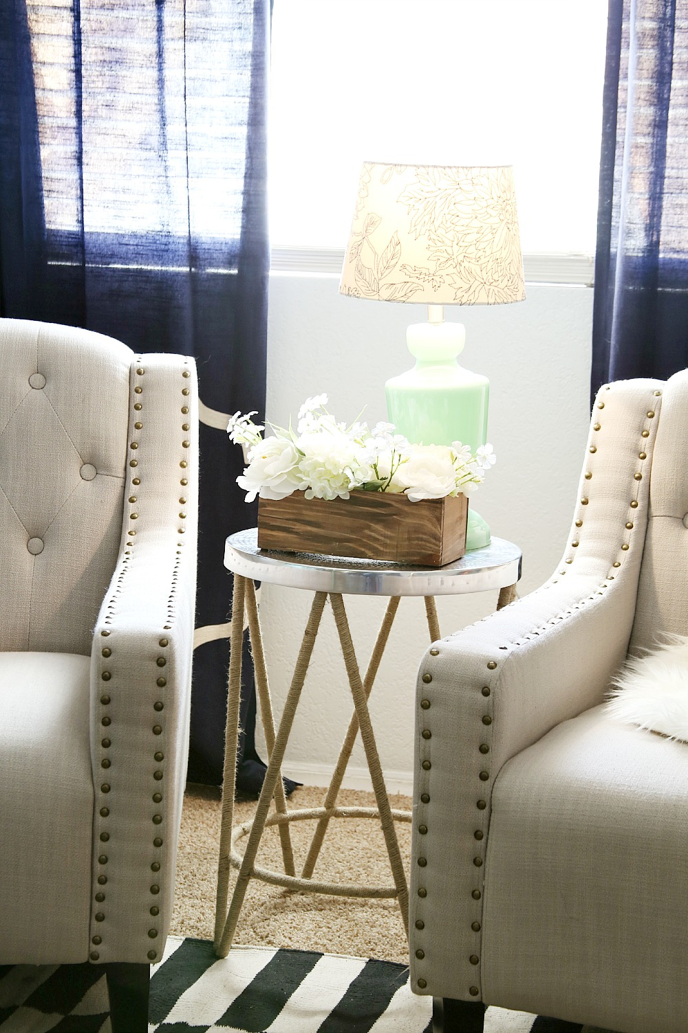 tips how style end table sitting area tier accent target found this cute and also lamp floral piece love the pop color brought space flowers all glass coffee white metal real