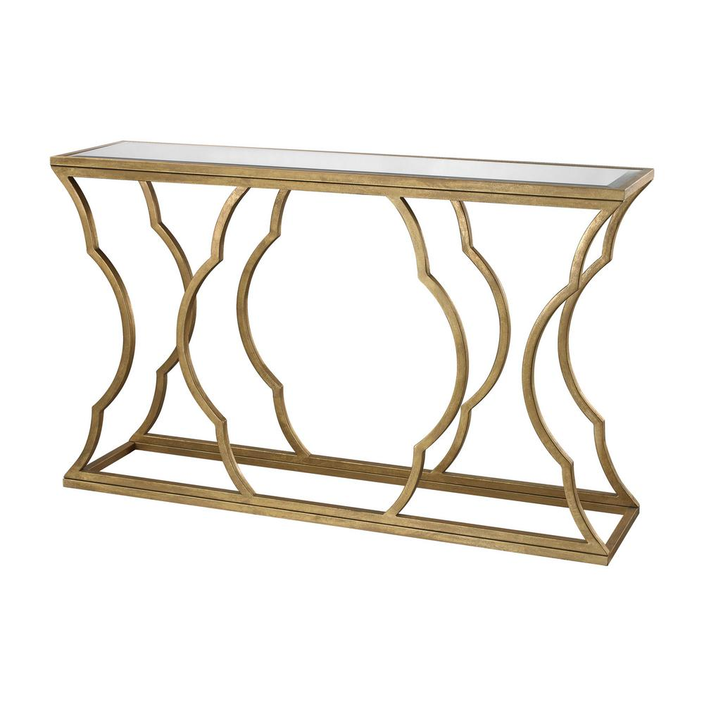 titan lighting metal cloud antique gold leaf mirrored top console mirror tables accent table wood drum coffee unique entryway glass bedside small end ikea childrens furniture