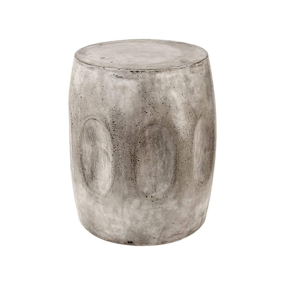 titan lighting woltran waxed concrete end table the home tables avalon round accent low drum throne cardboard bar house accessories ballard dining chairs side cover inch console